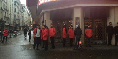 Des agents de sécurité privée sur les lieux des manifestations de Gilets Jaunes en décembre 2018 à Paris